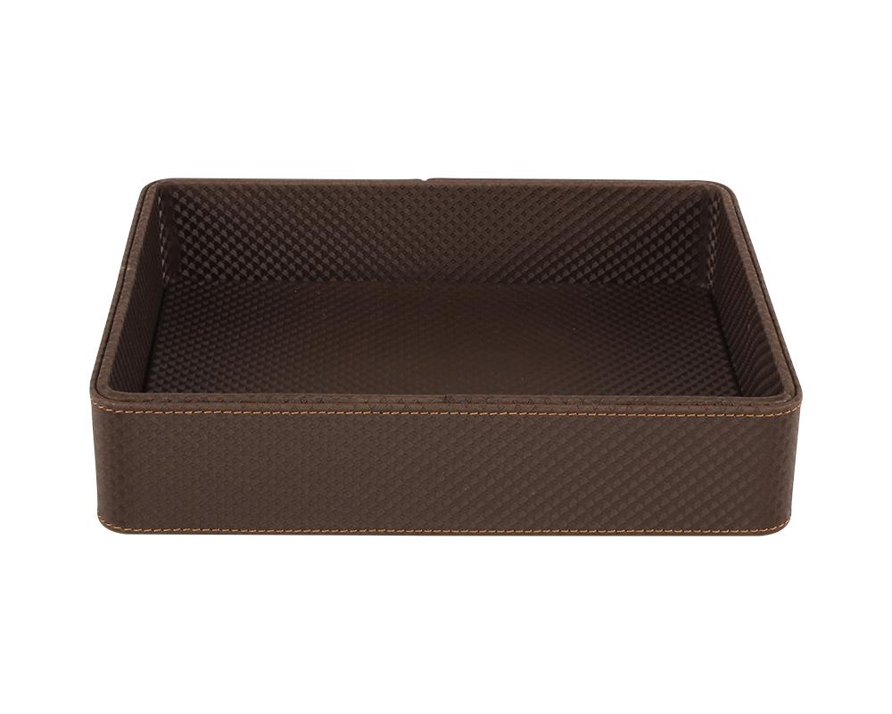 amenity-tray-premium-customised-diamond-range-brown-gold-stitch-2